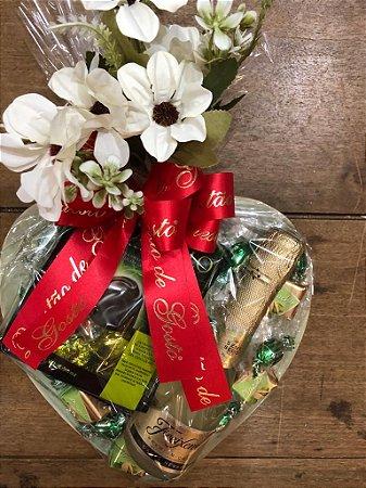 Kit Espumante, Chocolate e flores