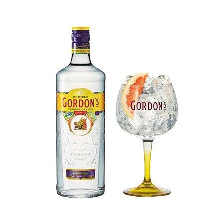 Kit Especial Gin Gordons 750 Ml + Taça Gin Vidro