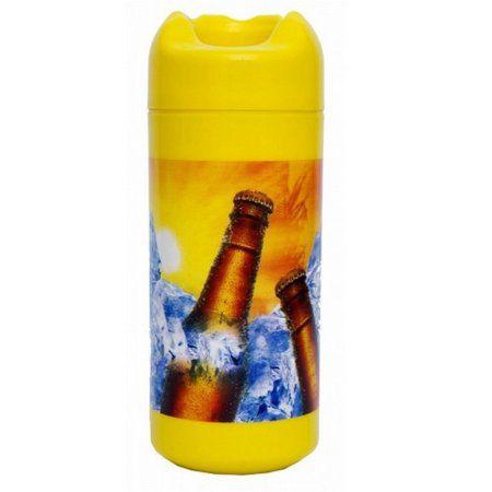 Porta litrão Doctor Cooler - estampa verão- amarelo