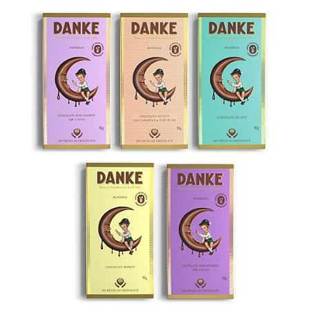 Chocolate Danke - Kit 5 barras 90g cada