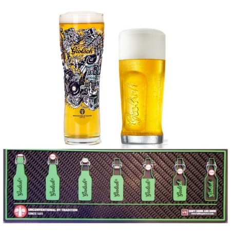 Kit Grolsch: 2 copos + barmat importado