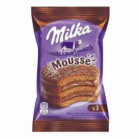 Alfajor Milka Triplo Mousse chocolate com leite 55g