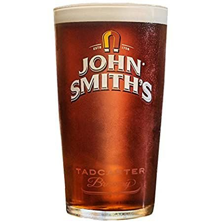 John Smiths pint glass Tadcaster brewery 550ml