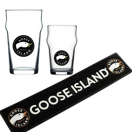 Kit Copos Goose Island Pint - 285 ml e 570 ml + bar mat