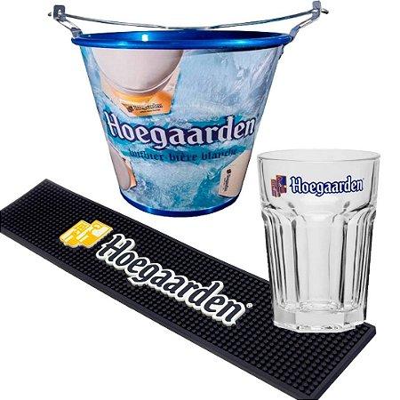 Kit Hoegaarden: Balde + copo + barmat