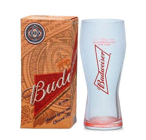 Copo Budweiser 400ml - Detalhes Vermelho