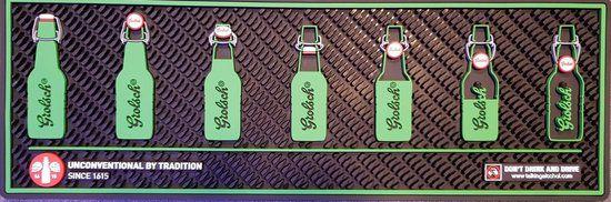 Bar mat importado Grolsch - 65cm X 22,5cm