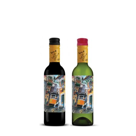 Kit Degustação Porta 6 - 1 Vinho tinto 375ml e 1 Vinho Branco 375ml