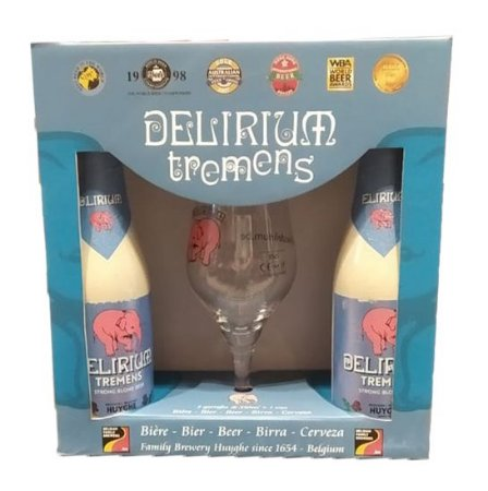 Kit Delirium Tremens - 2 Cervejas + 1 Taça 150ml
