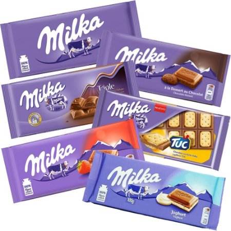 Kit 6 Barras Sortidas Milka 100g