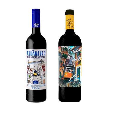 Vinhos tintos Atlântico 750 ml + Porta 6 750 ml