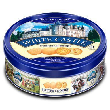 Bisc. White Castle Amanteigado lata- 114g