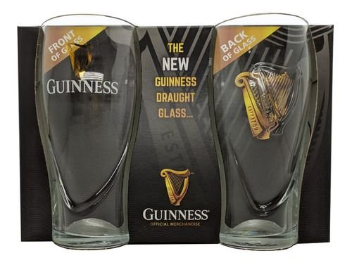 Kit 2 Copos Guinness Oficial 560ml