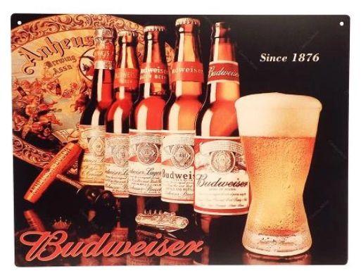 Quadro Budweiser cerveja imp. 41 cm x 31 cm