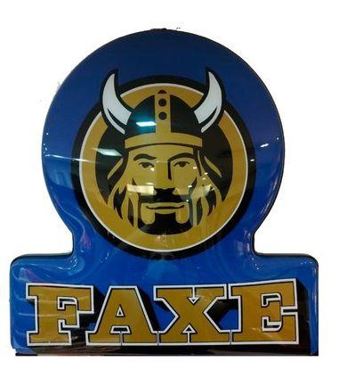 Luminoso Faxe Azul C/ Dourado Led