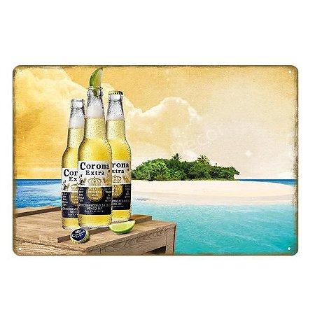 Quadro Corona extra praia 20 X 30 cm