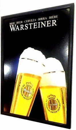Quadro Cerveja Alemã Warsteiner 62 cm X 45 cm