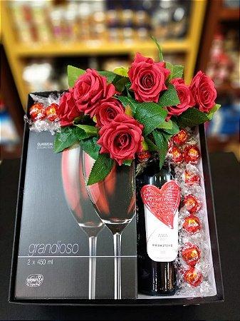 Caixa  Romance com vinho