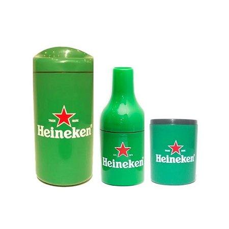 Kit Heineken: 1 porta 600 ml + 1 bineck + 1 porta lata