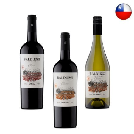 Promoção 3 Vinhos Chilenos Balduzzi Classic