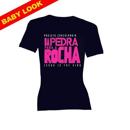 Baby Look New Rosa Da Pedra para a Rocha