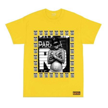 Camiseta Amarela Foto Mulher Cracolandia Por Amor o Preço é Outro