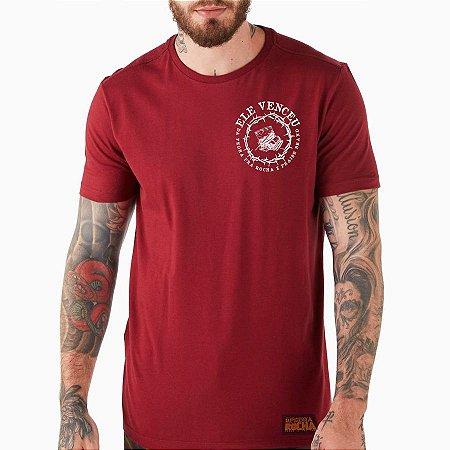 Camiseta Vermelha Ele Venceu x Colab Praise Brand