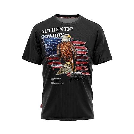 Camiseta Estilo Country Authentic Cowboy