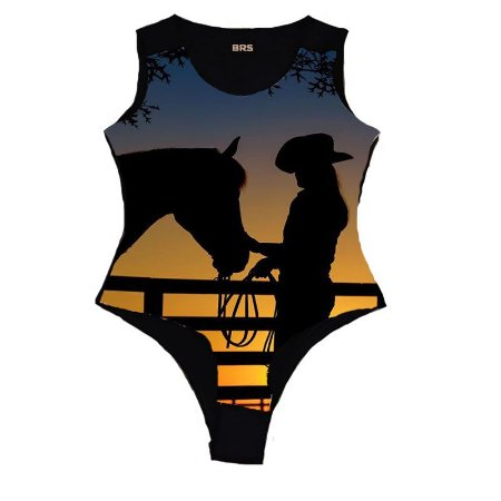 Body Country Cowgirl Por do Sol