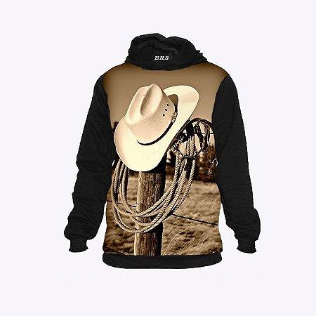 Moletom Country Cowboy Bota Chapéu e Corda
