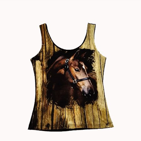 Regata Country Cowgirl Rosto Cavalo Marrom