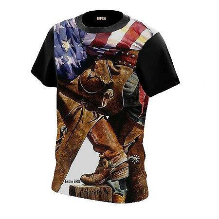 Camiseta Country Cowgirl Cowboy Estilo BRS Espora de Ferro