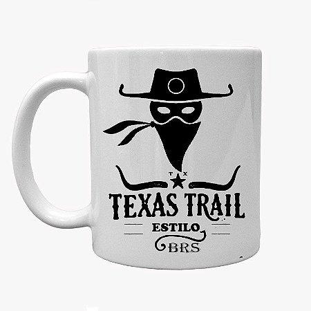 Caneca Country Cowgirl Cowboy Texas Trail