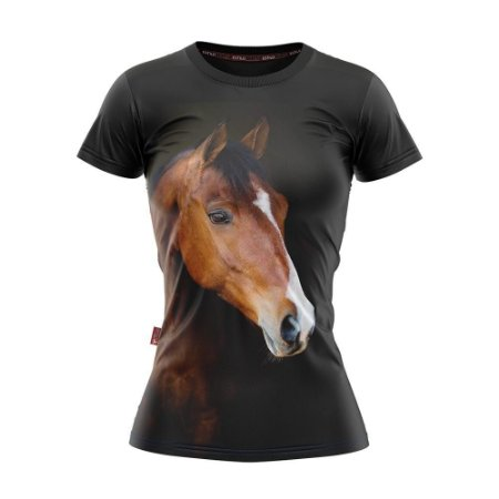 Camiseta Baby Look Cowgirl Cavalo Solitário