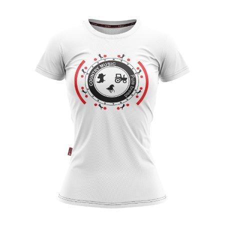 Camiseta Baby Look Cowgirl Country Music