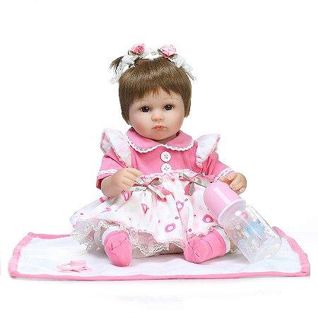 Isabella Chá da Tarde - Boneca Bebê Reborn Menina