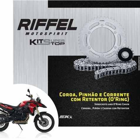 Kit Relação Riffel com Corrente EK BMW F700GS / F800GS