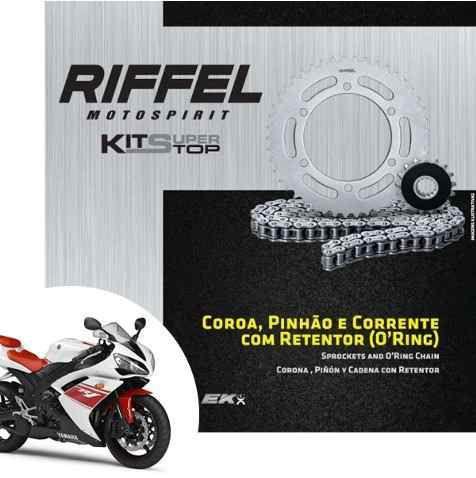 Kit Relação Riffel com Corrente EK Yamaha R1 2004 a 2008