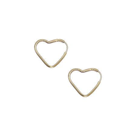 Brinco Argola Coração Pequeno Ouro 18k