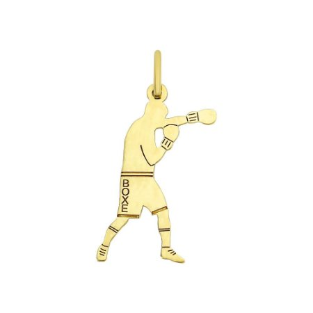 Pingente Esporte Boxe em Ouro 18k