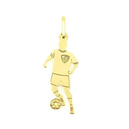 Pingente Jogador de Futebol em Ouro 18k