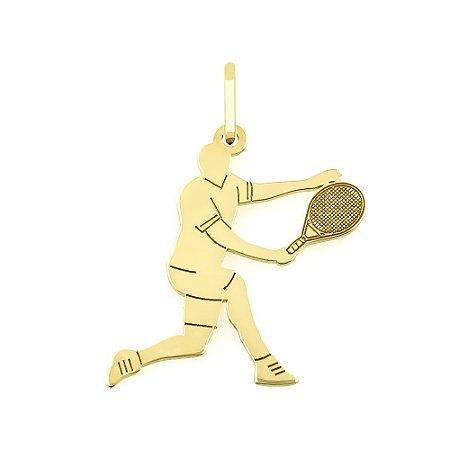 Pingente Jogador de Tênis em Ouro18k