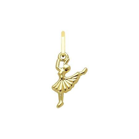 Pingente Bailarina Ouro 18 k