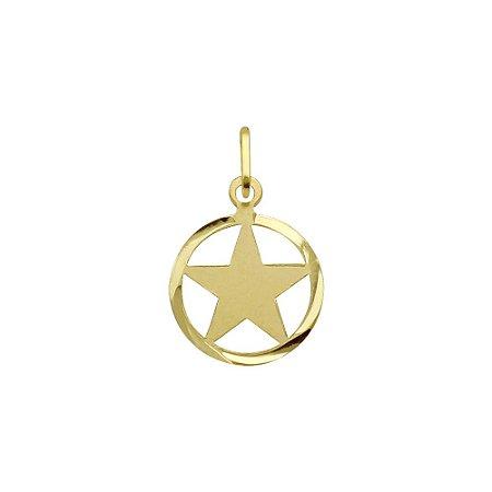 Pingente Estrela 5 Pontos em ouro 18k