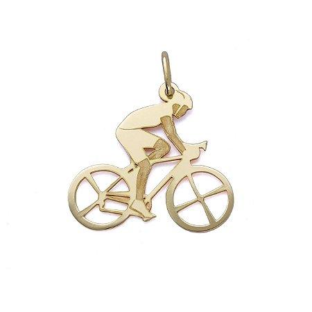 Pingente Ciclismo em Ouro 18k
