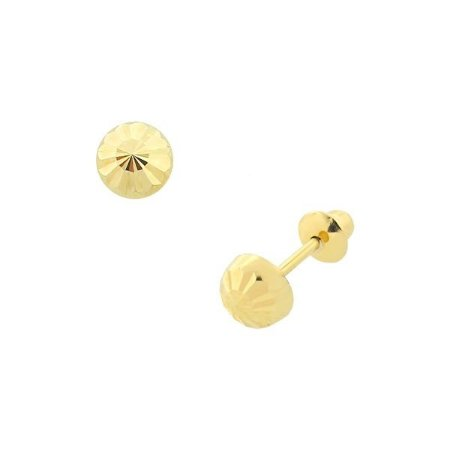 Brinco Infantil Diamantado 4mm de Ouro 18K