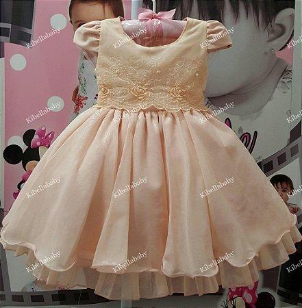Vestido Infantil de Princesa  - tam 1 ao 4