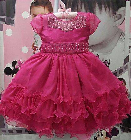 Vestido Infantil de Festa Princesa Disney/ Barbie - tam 1 ao 3