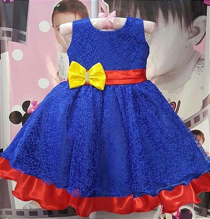 Vestido Infantil Show da Luna - tam 1 ao 3