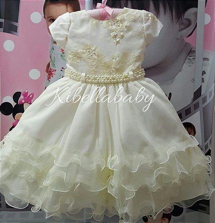 Vestido Infantil de Festa Luxo - tam 1 ao 3
